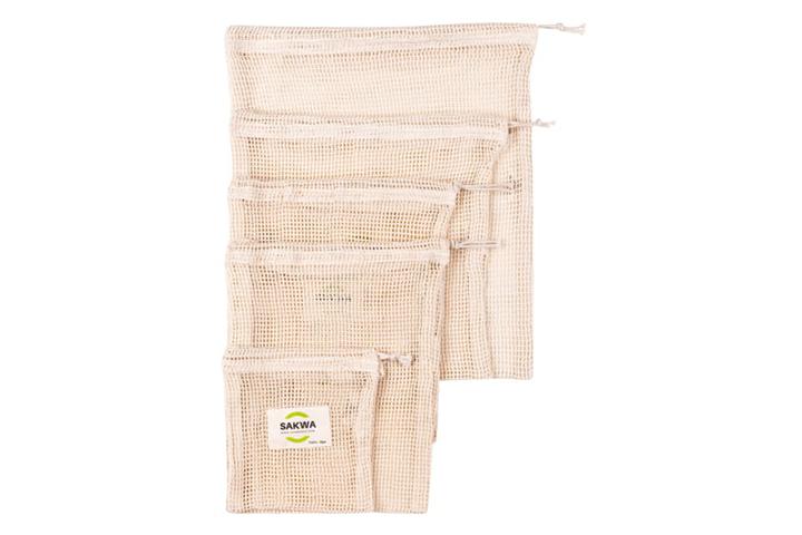 Wielorazowe woreczki ekologiczne - duży zestaw 5 sztuk